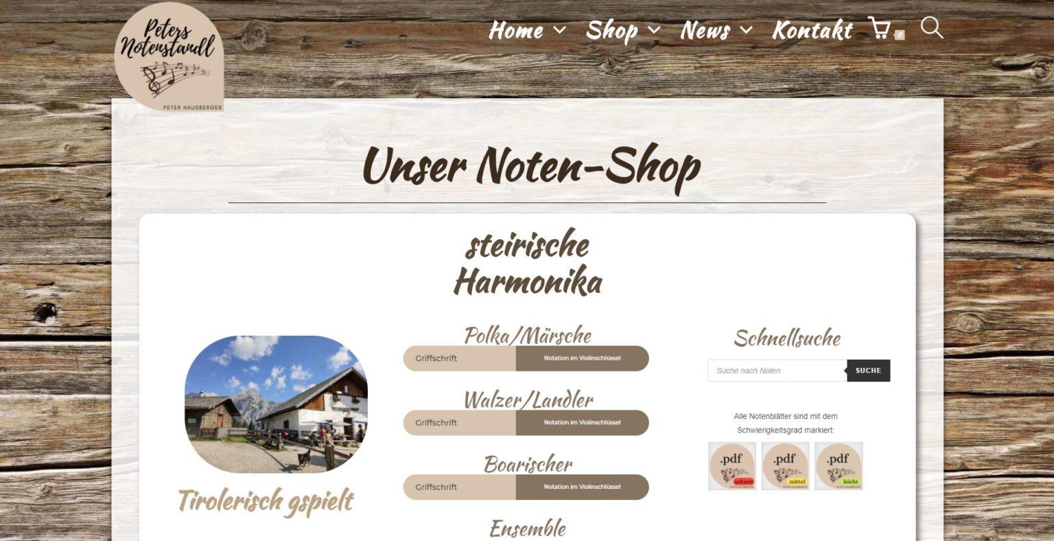 Referenz WebShop Notenshop